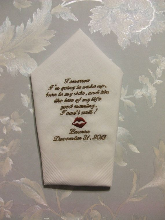 GROOM gift from BRIDE Custom Embroidered