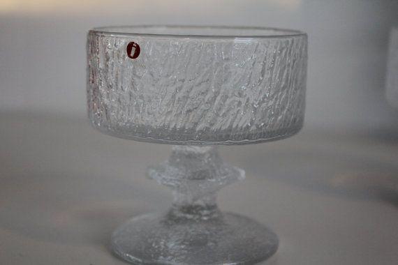 "Classic Timo Sarpaneva dessert glass""Senaattori"" ( Senator) for Iittala these were manufactured during 1968-1981"