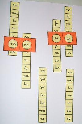 Para crear palabras de dos sílabas