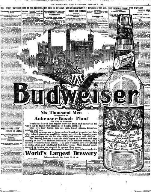 42 Best Bierposters Usa Budweiser Images On Pinterest