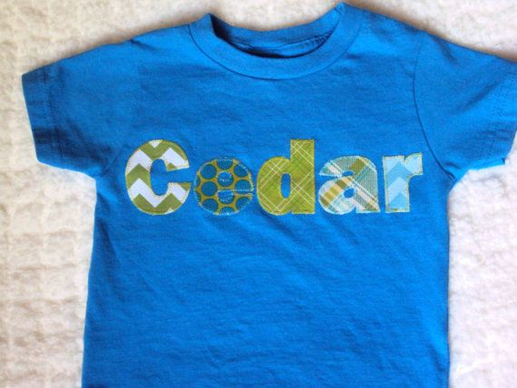 Boys Personalized Shirt Toddler Shirt  Chevron and Polka Dots