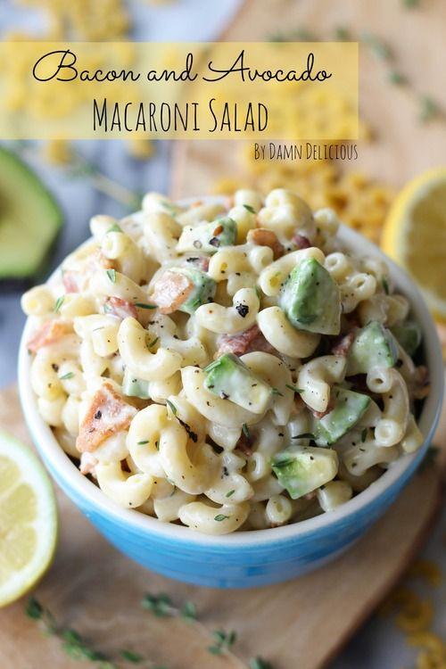 Bacon and Avocado Macaroni Salad #BHGSummer