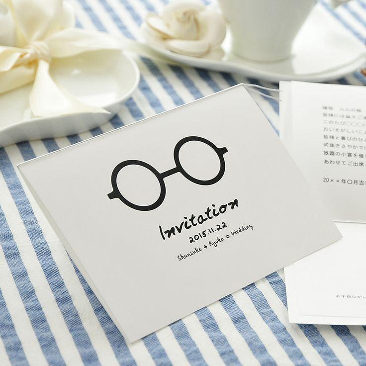招待状手作り「めがね」 http://www.farbeco.jp/shopdetail/036001000105/