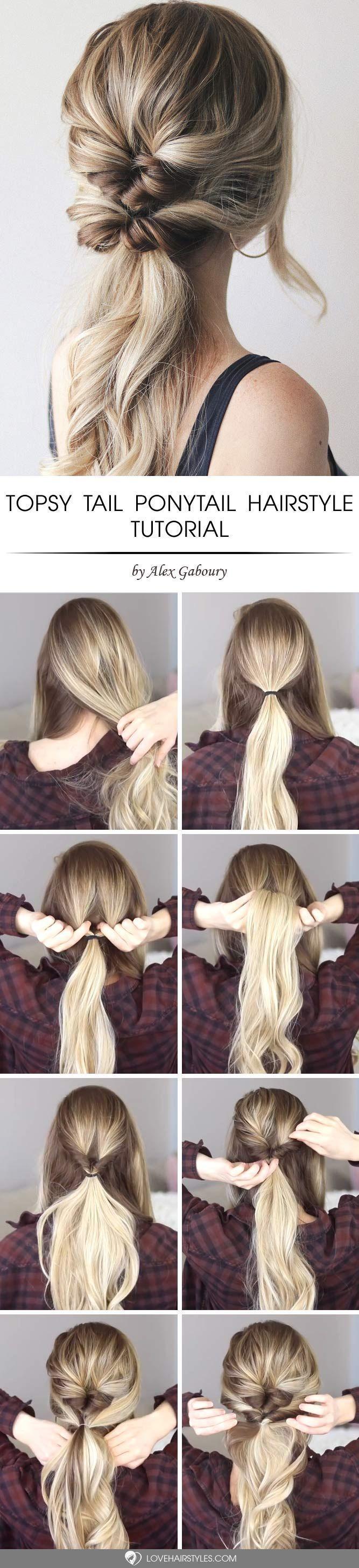 Hair Styles For School Easy And Chic Double Topsy Tail Hairstyle Topsytail Tutorials Hair Koreanische Haarfarbe Pferdeschwanz Frisuren Tutorial Haartutorial