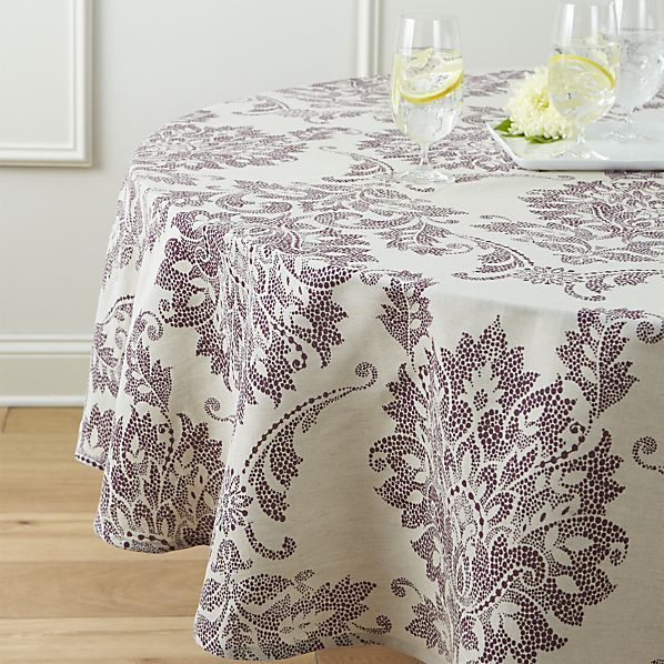 """Lucia 90"""" Round Tablecloth  