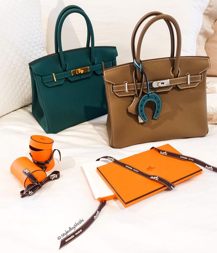 Hermes Birkin bags with charms