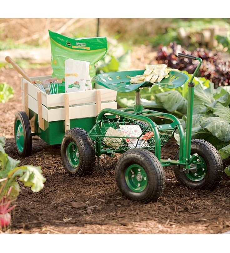 Garden Caddy On Wheels : Images about rolling garden carts seats stools on