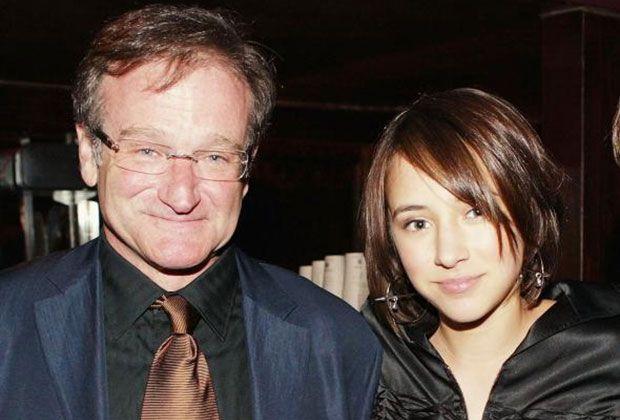 Robin Williams and his daughter Zelda Williams