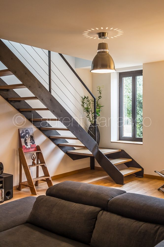 Escalier metal et bois Atmos Fer - Laurent Barranco Photographe Toulouse