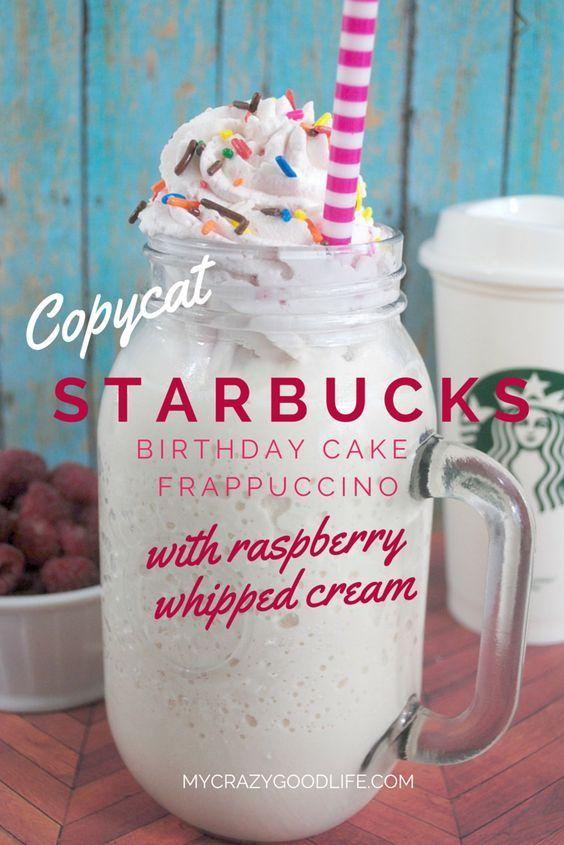Copycat Starbucks Birthday Cake Frappe Recipe Starbucks