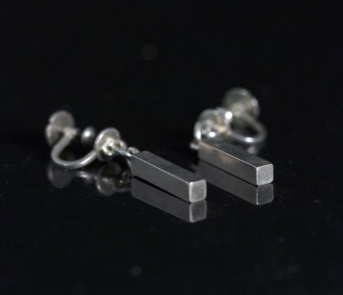 Pair of silver earrings by Wiven Nilsson