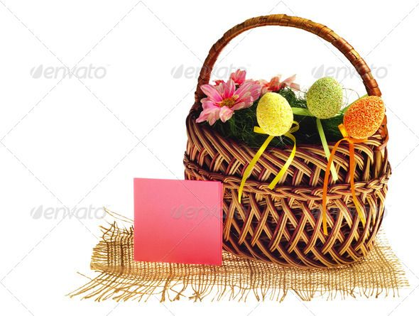 Easter basket with card
