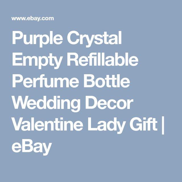Purple Crystal Empty Refillable Perfume Bottle Wedding Decor Valentine Lady Gift | eBay