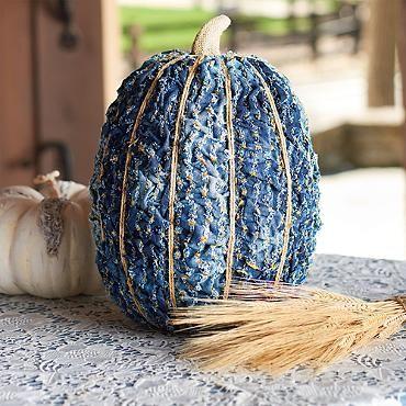 This Is The Most Horrifying Halloween Decoration Iu0027ve Seen Yet! Patch Denim  Pumpkin