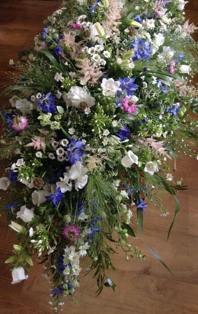 Wild flower casket spray