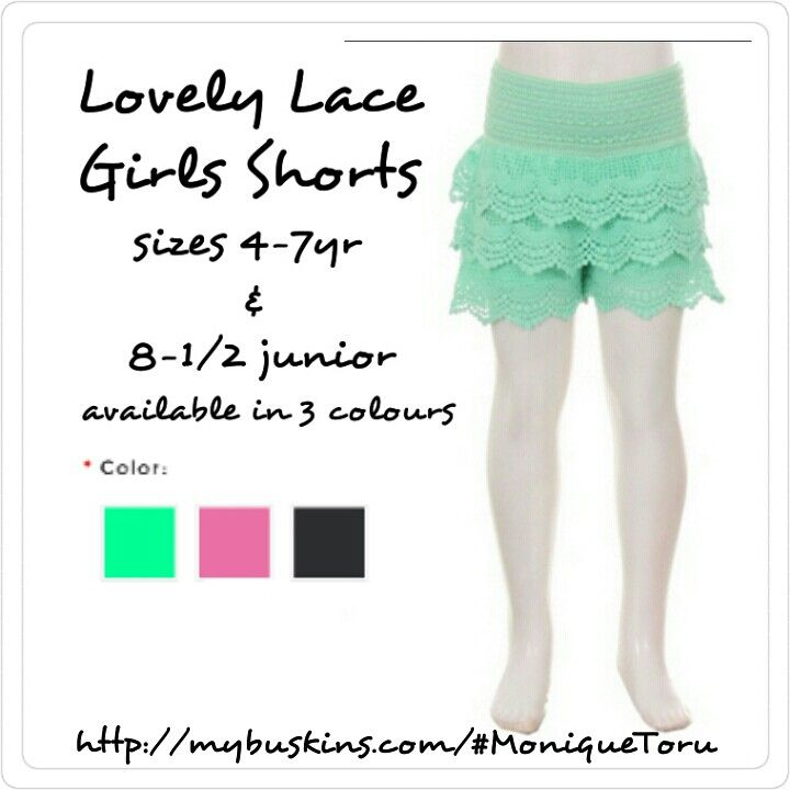 We now sell lace shorts for girls.  Available on our website come check us out.  http://mybuskins.com/#MoniqueToru affiliate referred Monique Toru  #PhotoGrid #shorts #shopping #fashion #buskins #girlswithstreetstyle #girlsclothing