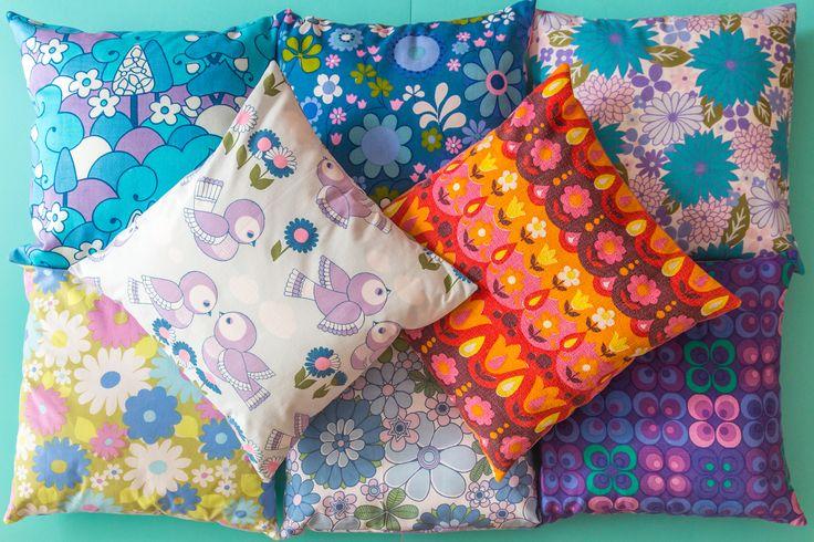 Easy sew cushion cover tutorial by Zoë Power on the Bibelot Magazine blog