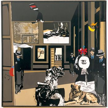 El recinte, Equipo Crónica (Estilo pop art), He elegido esta obra porque fue una de las pioneras en mezclar el arte barroco con el modernismo, dotándolo de ironía en un ambiente opresivo.