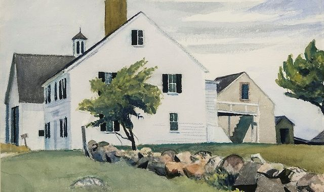 Farm House at Essex, Massachusetts, 1929,  Edward Hopper
