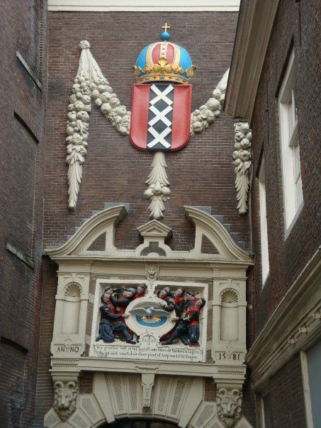 Amsterdams landmarks and City Arms