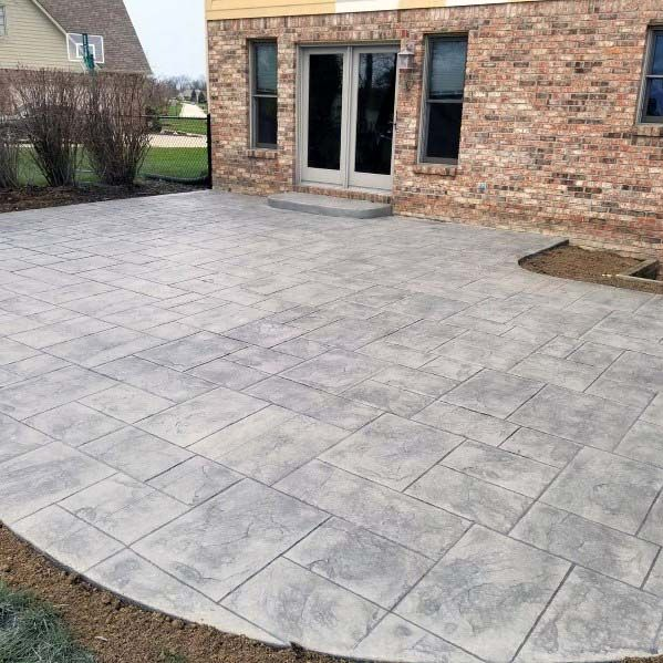 Top 50 Best Stamped Concrete Patio Ideas Outdoor Space Designs Concrete Backyard Concrete Patio Designs Concrete Patio