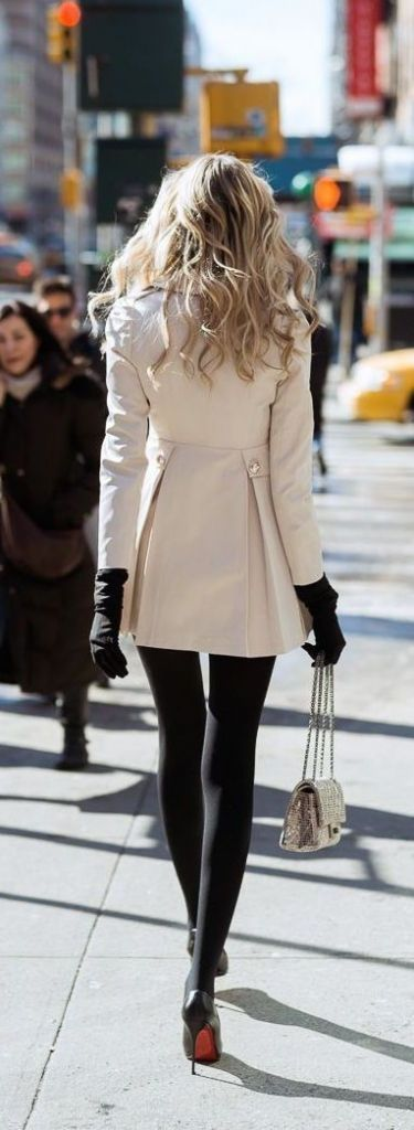 #winter #fashion / cream trench coat + Loubies                                                                                                                                                                                 More