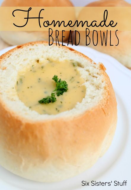 Homemade Bread Bowls Recipe ~ Says: so easy and delicious, I will never buy them from the bakery again!