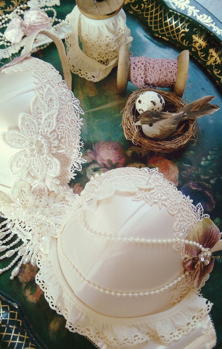 Embellishing a bra..Playing in the studio. Pinning up ideas.