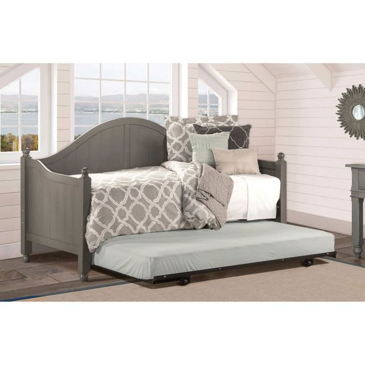 Hillsdale Furniture Augusta Daybed in Stone with Free Daybed Mattress