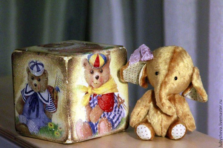 """Интерьерный кубик """"Мишки Тедди"""" - разноцветный,кубики,кубики деревянные"""
