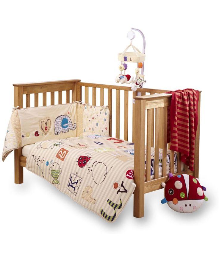 Buy Clair de Lune Cot Bed Quilt and Bumper Set - ABC at Argos.co.uk - Your Online Shop for Nursery bedding sets.