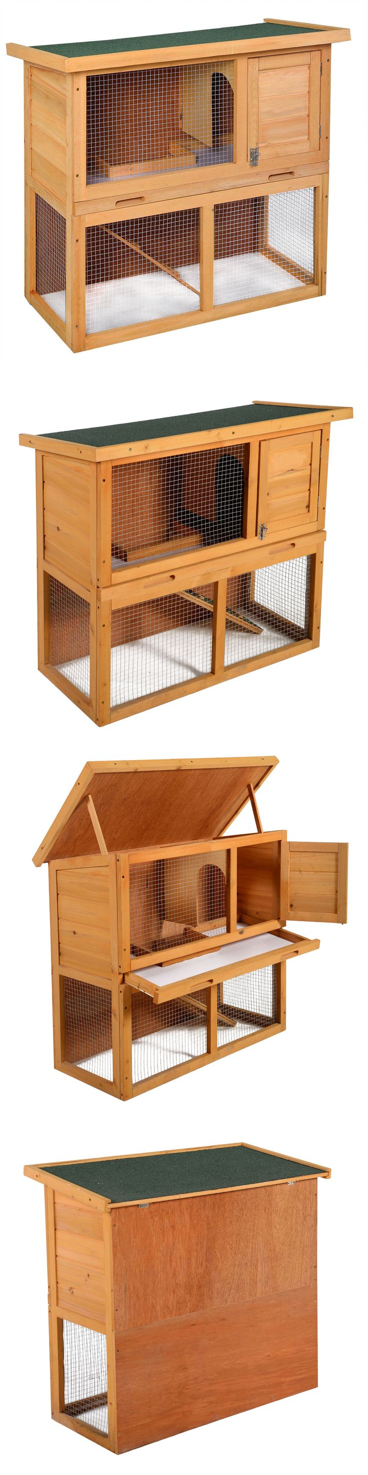 Backyard Poultry Supplies 177801: 35 Wooden Chicken Coop Hen House Rabbit Wood Hutch Poultry Cage Waterproof BUY IT NOW ONLY: $61.9