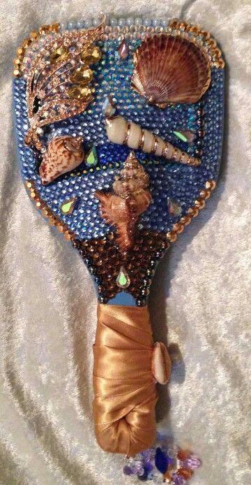 Orisha Yemaya handmirror DesignsbyLWhite avlble on Etsy.com