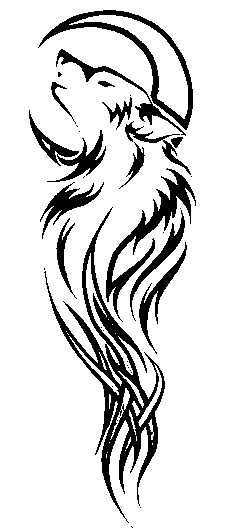wolf tattoo idea