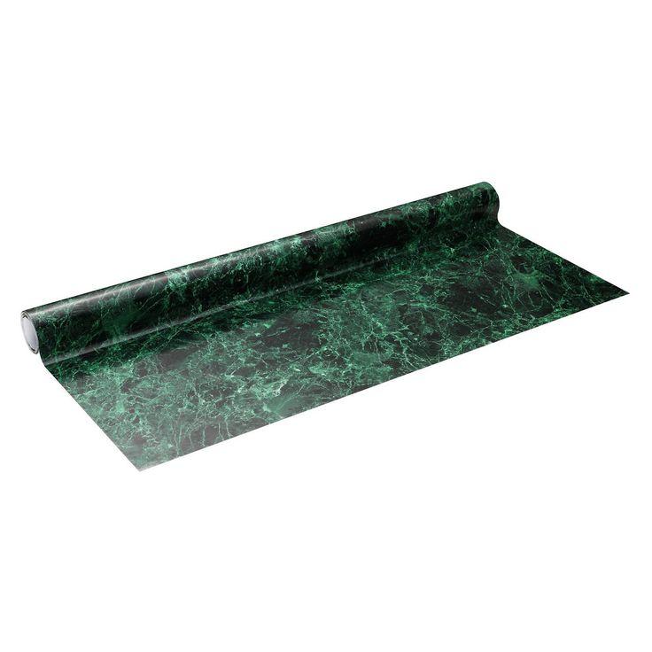 (2016-02) Kontaktplast 63 cm grøn marmor