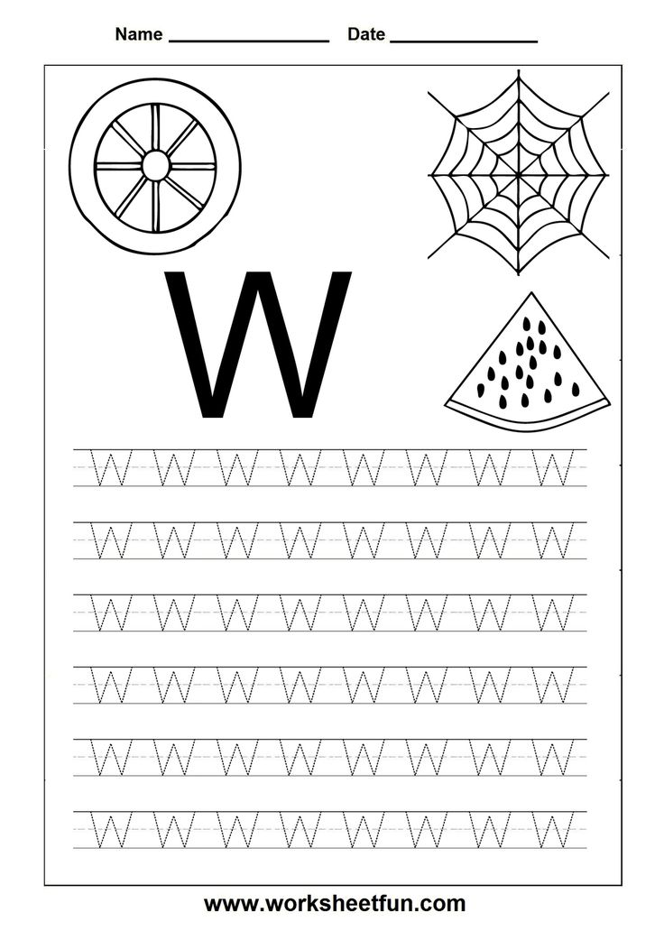 Worksheets Letter W Worksheets 1000 ideas about letter w on pinterest k free printable worksheets tracing for kindergarten capital and small letters alphabet