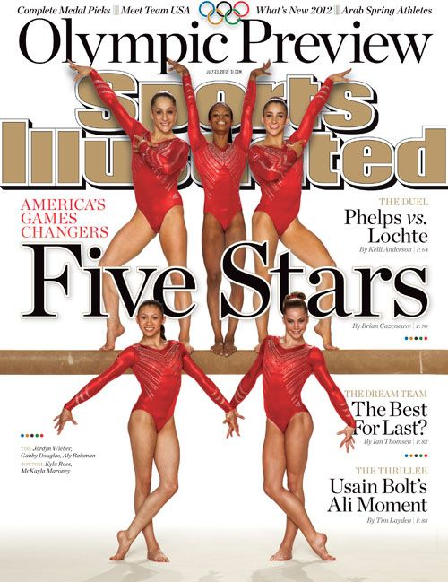 Congratulations to the U.S. Women's Gymnastics Team for winning the Gold Medal in London for Women's Gymnastics! They're also featured on the cover of Sports Illustrated. Look for it on newstands! This is how we do it! YGGs!