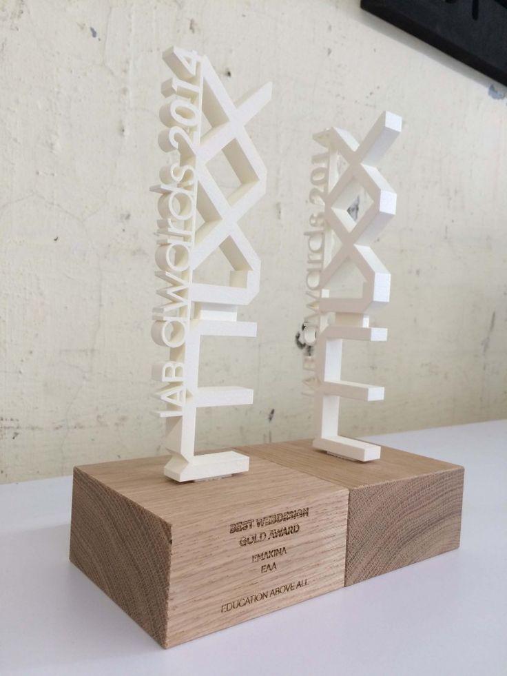 3D print trophy - IAB Mixx Awards 2014 - Twikit Specials