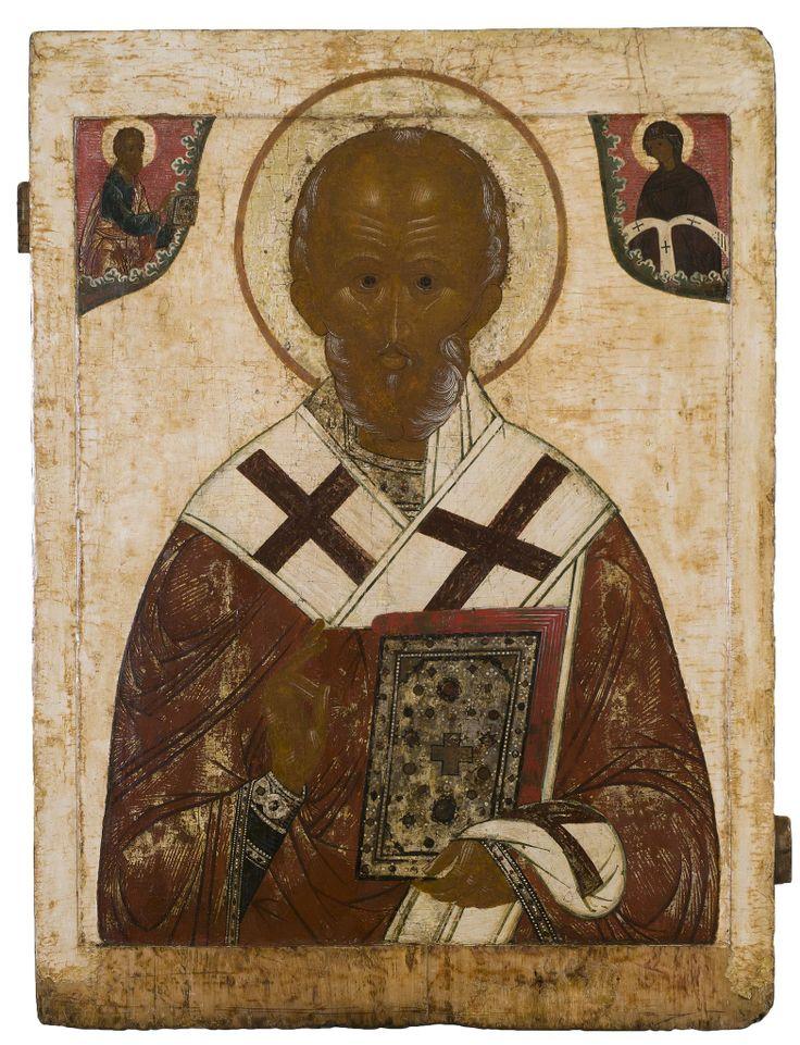 Saint Nicholas - Russian, late 17th century 89.3 x 67 cms