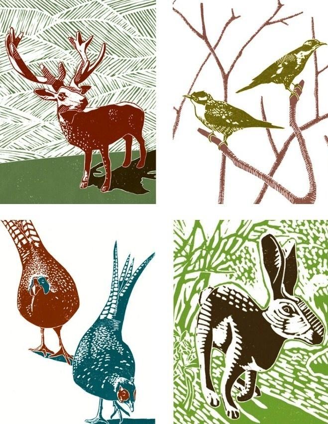 James Green linocut prints