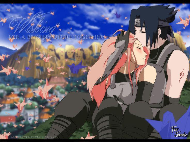"""Sakura and Sasuke of """"Naruto"""""""