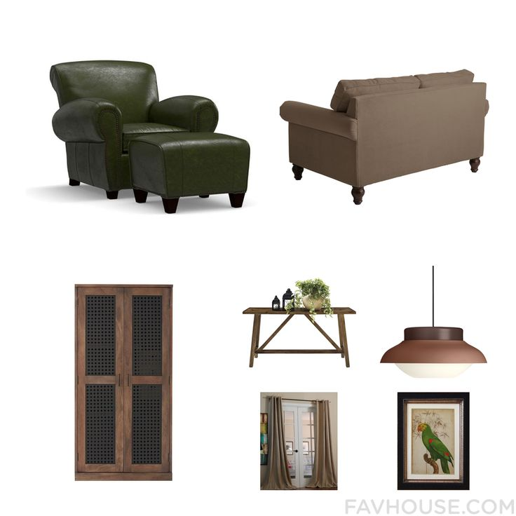 Room List Featuring Pottery Barn Furniture Nailhead Sofa Home Decorators Collection And Brown Coffee Table From September 2016 #home #decor