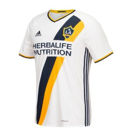 Adidas LA Galaxy Home Soccer Jersey 2016 YOUTH (White) (US size) (US size_YM)