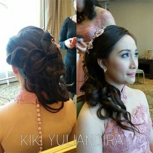 Hair do for resepsi pengiring pengantin By... #wedding #weddings