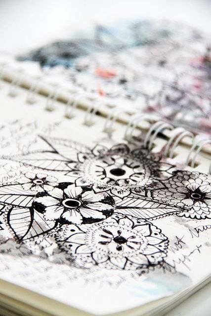 black and white pages by mealisab, via Flickr
