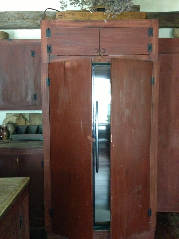 Build a cabinet to hide your refrigerator in your ...