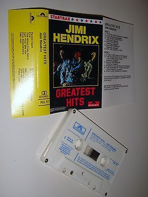 JIMI HENDRIX GREATEST HITS Cassette Tape