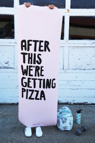 After This We're Getting Pizza - Workout Mat