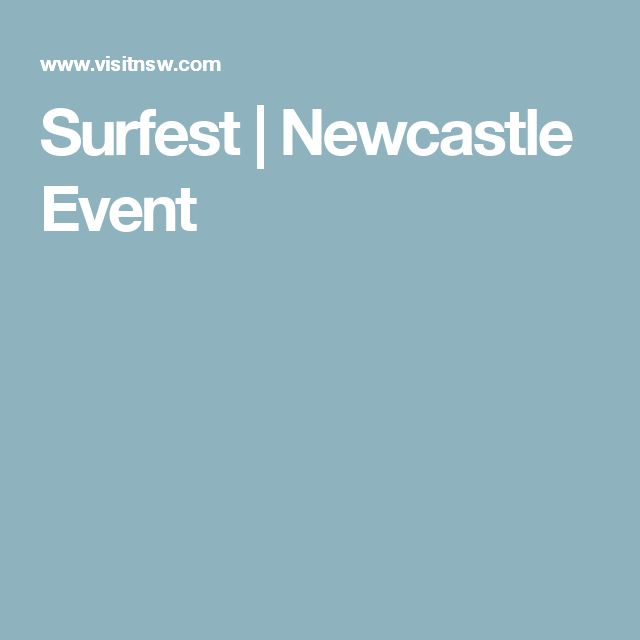 Surfest   Newcastle Event