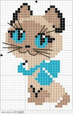 Kuvahaun tulos haulle cat chart knitting